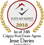 Top Rated Calgary Real Estate Agent Badge for Jesse  Davies verified on 2018-12-20 by Rate-My-Agent.com